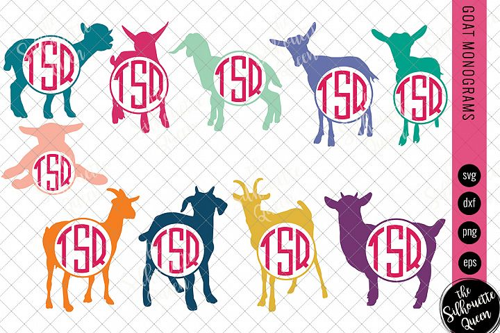 Goat Svg, Monogram Svg, Circle Frames, Cuttable Design, Cut