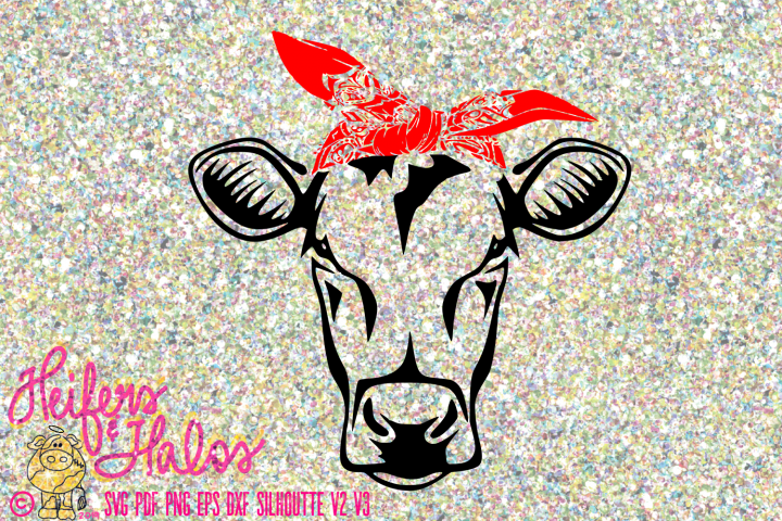Cow Heifer with Bandana Simple Cut Design