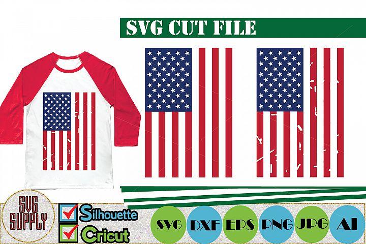 American Flag Distressed SVG Cut File