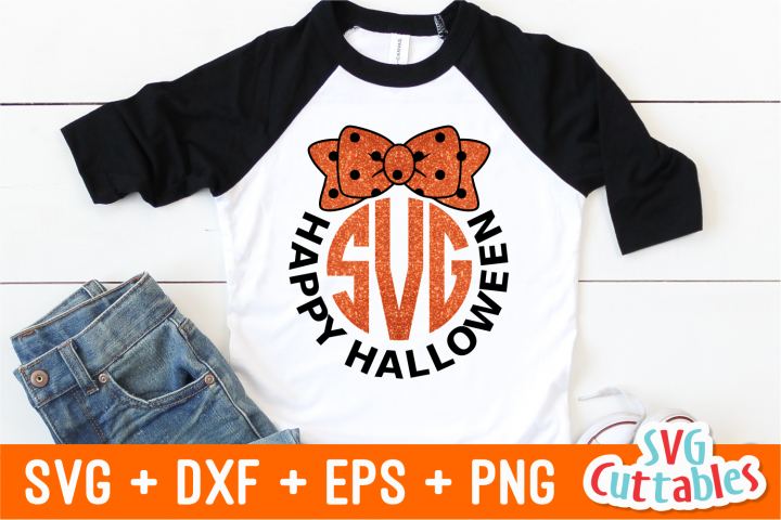 Halloween Monogram Frame SVG Cut File