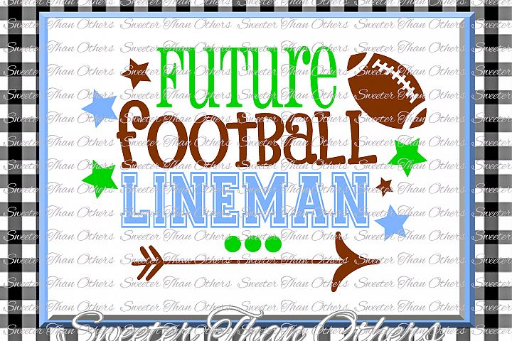 Football Svg, Future Football Lineman svg