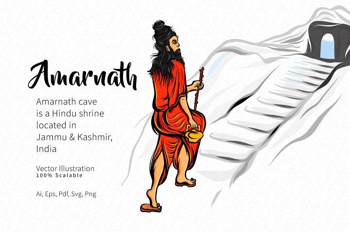 Amarnath Figure Vector Illustration