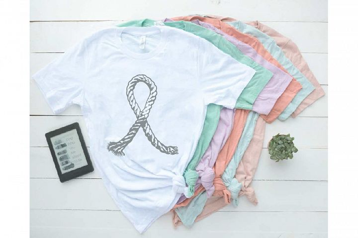 Ribbon Rope Brain Cancer Awareness Tumor SVG