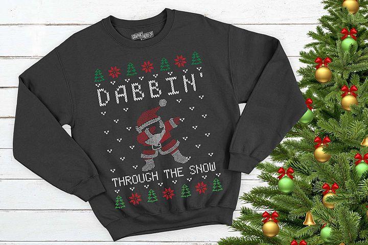Dabbin Santa Christmas Printable