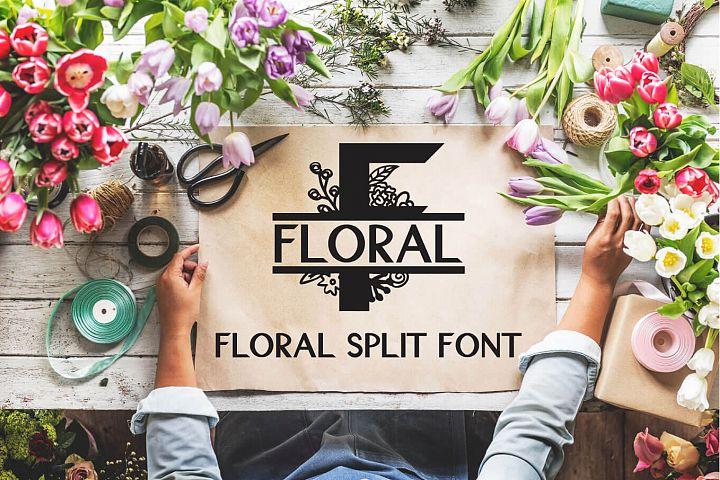 Floral Split Font - A Monogram Font