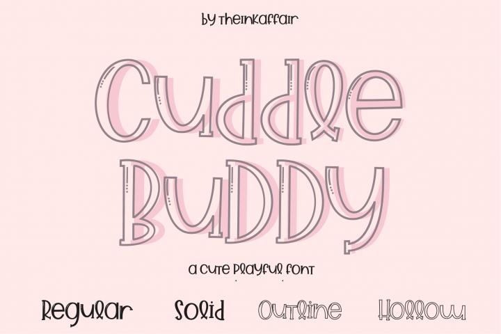 Cuddle Buddy A cute playful Font