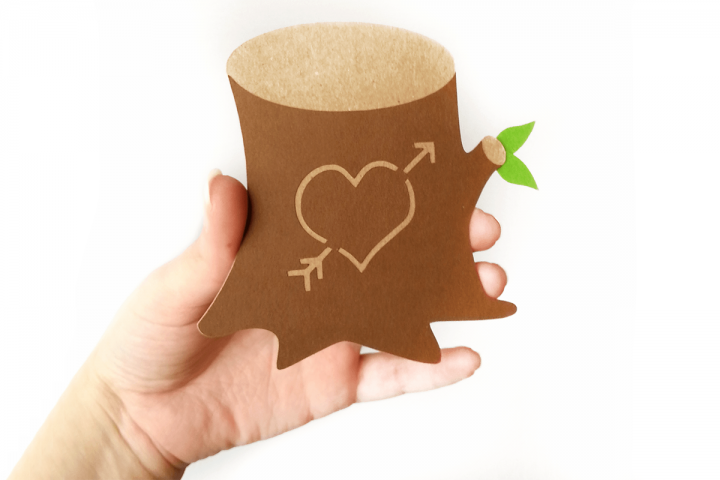 Tree Stump with Heart SVG File Cutting Template