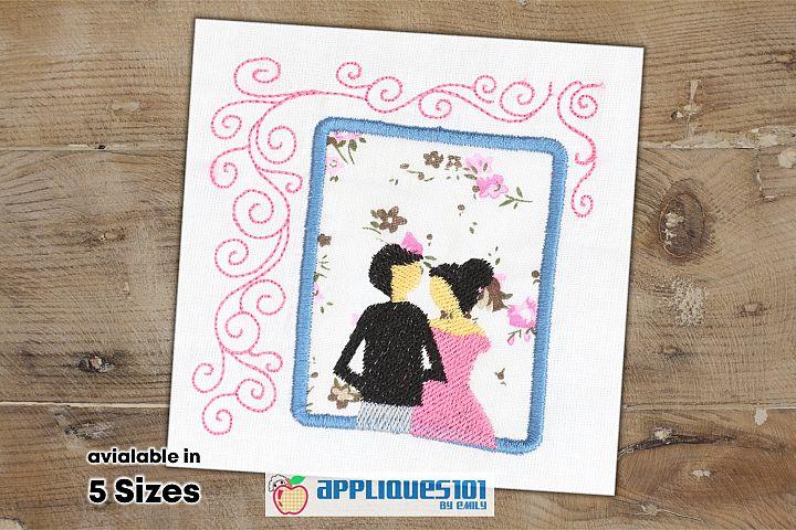 Wedding Couple Embroidery Applique Design - Couples