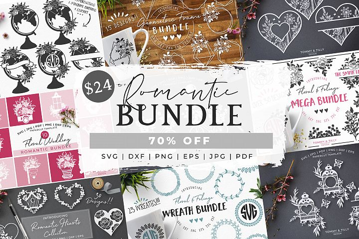 MEGA BUNDLE! Romantic Cut Files - SVG | Papercut