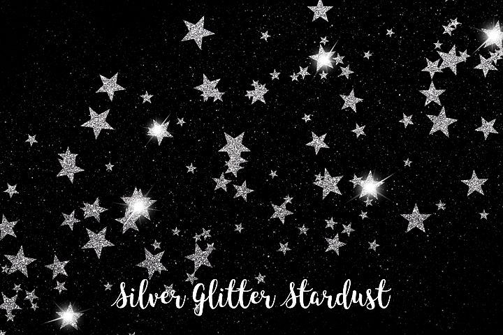 Silver Glitter Stardust, Transparent PNG