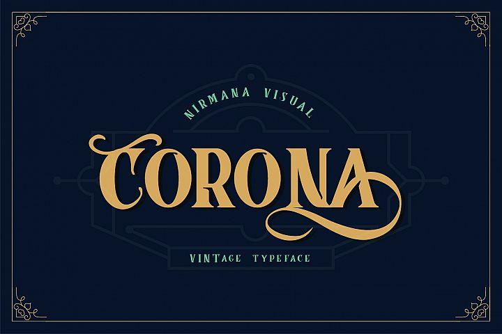 Corona Vintage Typeface