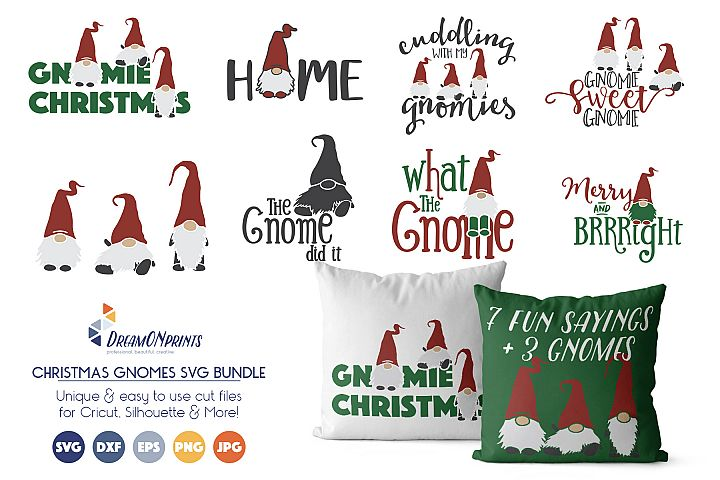 Gnomes Bundle - Fun Christmas SVG Bundle