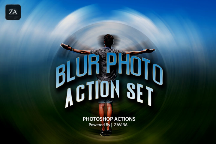 Blur Photoshop Action Set