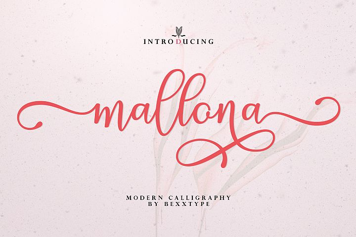 The lovely new Mallona Script!