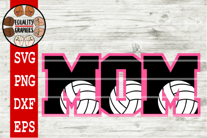 Volleyball Mom SVGs | DXF | EPS | PNG | PDF