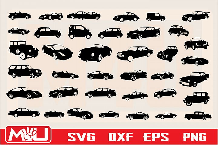 Cars Sign Svg, Clipart, Printable, Silhouette and Cut file