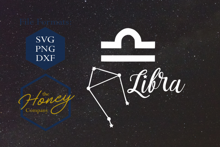 Libra SVG PNG DXF Zodiac Cutting File Vector Download