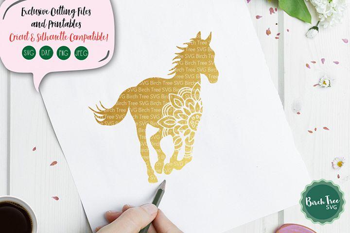 Horse Mandala Svg, Horse Svg Cut File, Horse Decal, Mandala