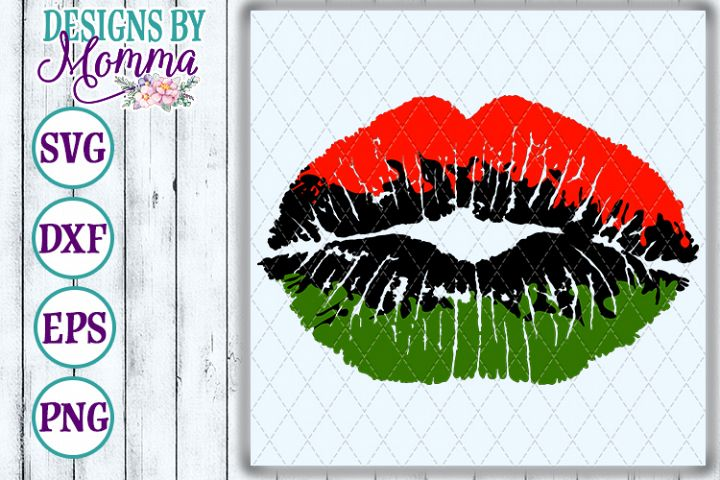 Lips Red Green Black SVG