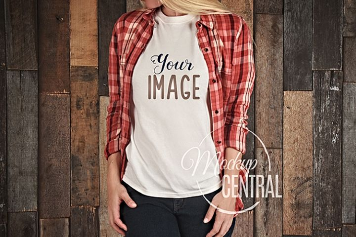 T-Shirt Mockup, Shirt Mock Up on Woman JPG