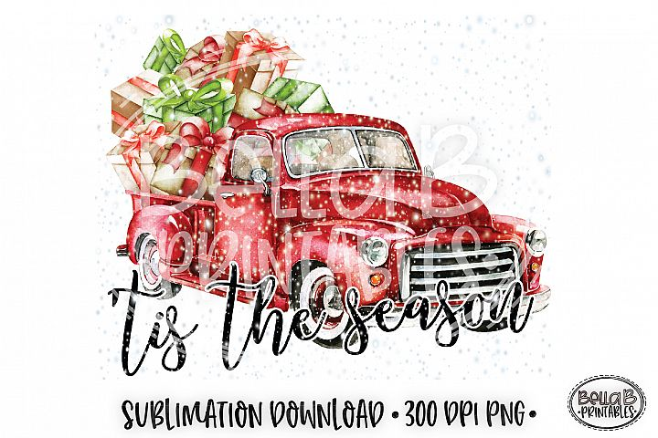 Christmas Sublimation Design, Tis The Season Sublimation