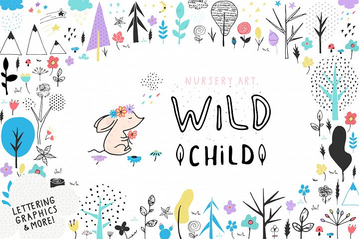 Nursery Art Wild Child