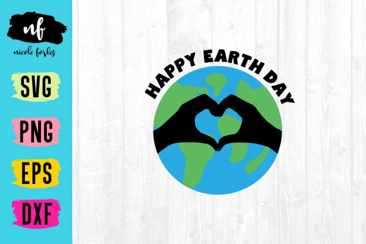 Happy Earth Day SVG Cut File