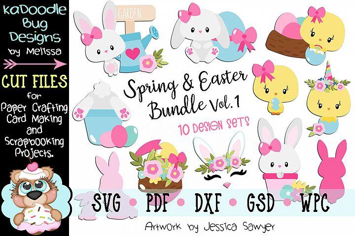 Spring and Easter Bundle Set Vol. 1 - 10 Cut File Designs