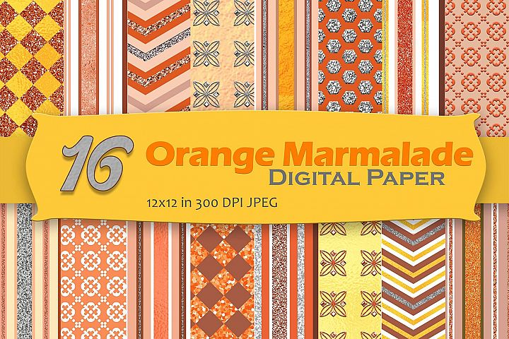 Orange Marmalade Digital Paper Pack