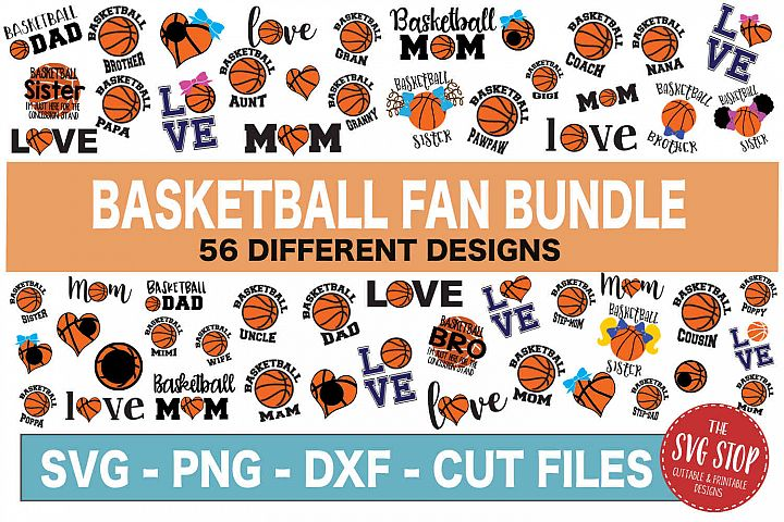 Basketball SVG Bundle -SVG, PNG, DXF