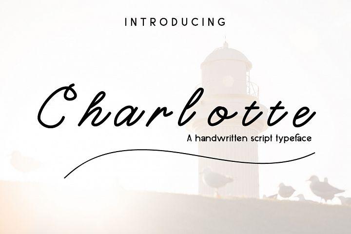 Charlotte Script Typeface