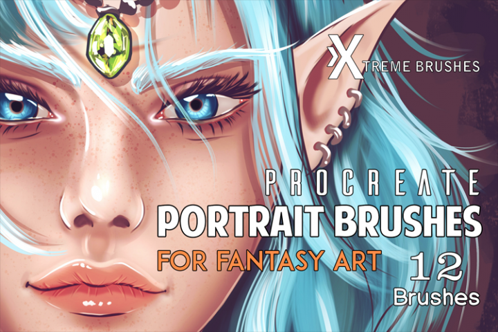 Procreate Fantasy Portrait Brushes!