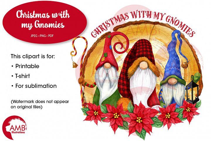 Christmas gnomes, Rustic Cabin Gnomes AMB-2678