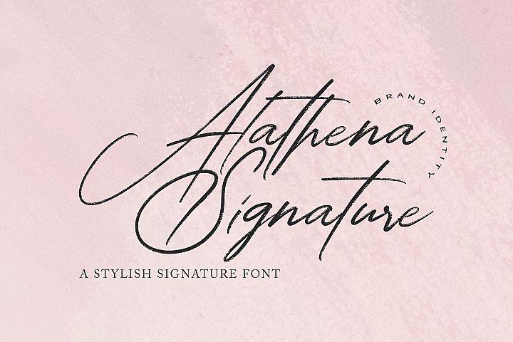 Alathena Signature Font
