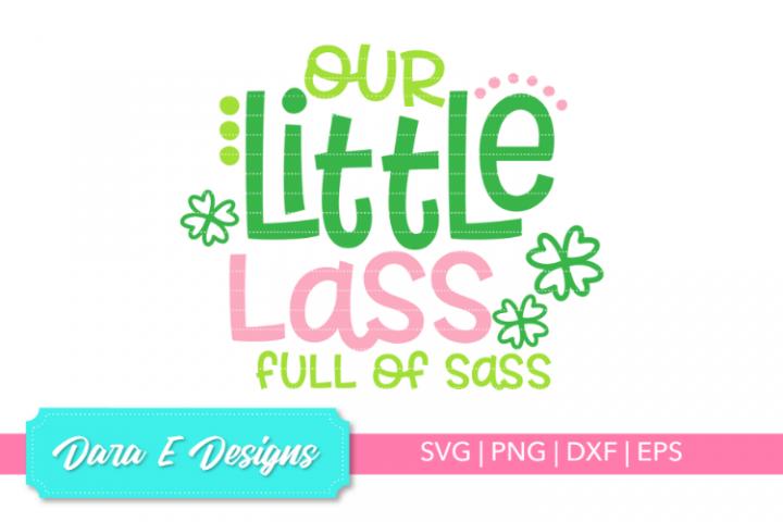 Little Lass SVG | St Patricks Day SVG | Luck Shirt Des