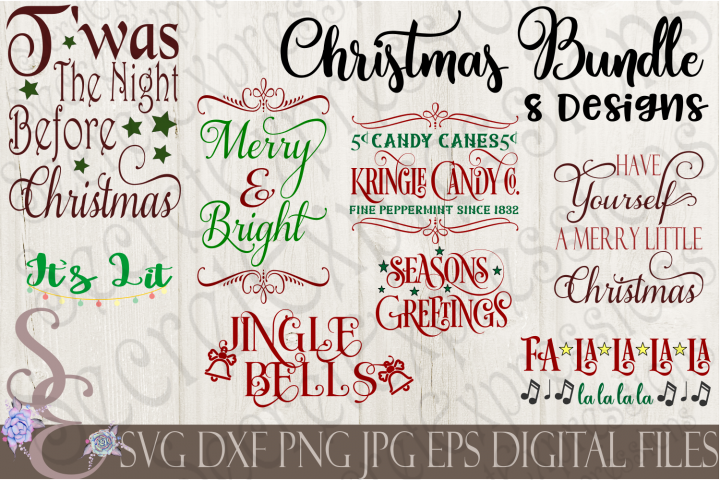 Christmas Bundle 8 SVG Designs