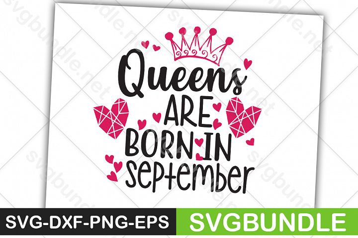 Queens Are Born In September SVG
