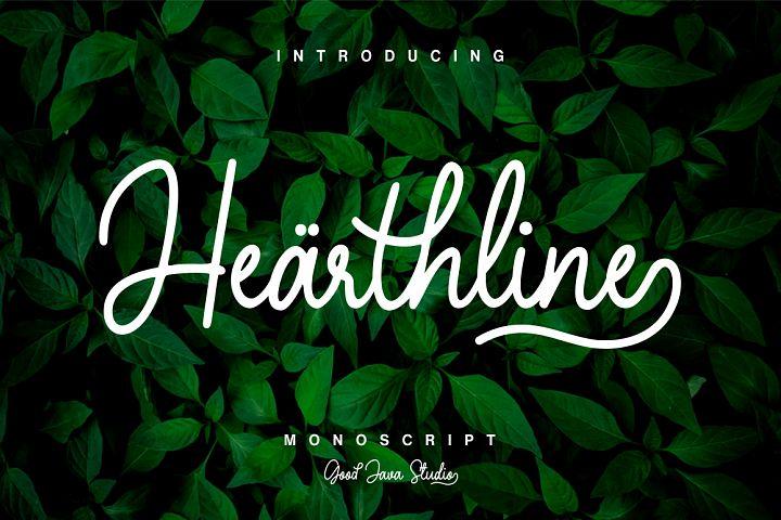 Hearthline - Monoscript Font
