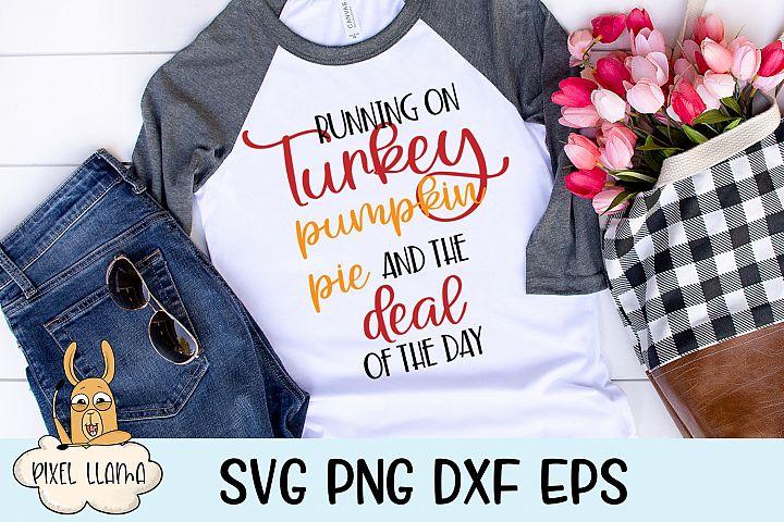 Turkey Pumpkin Pie Deal of the Day Black Friday SVG