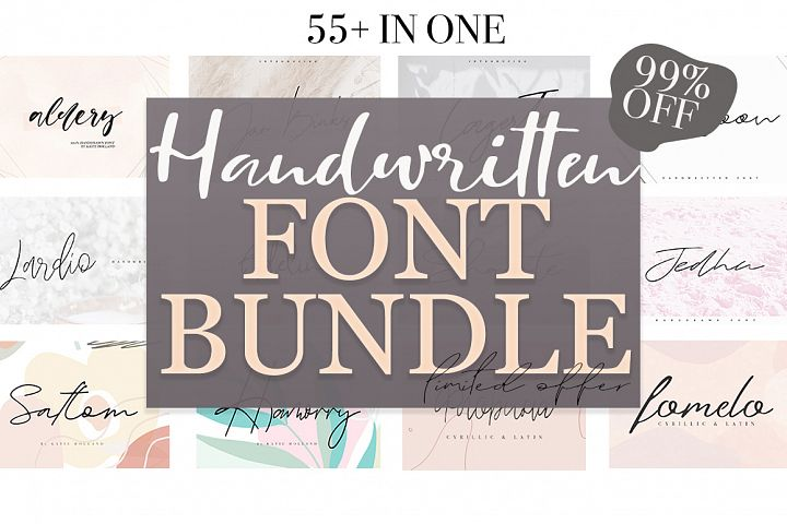 FONT BUNDLE / 55 in one