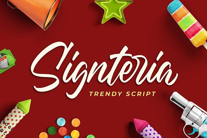 Signteria - Trendy Script Font