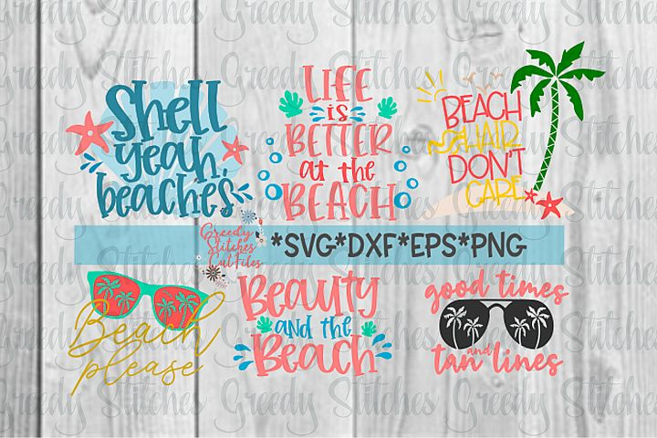 Beach SVG Bundle | SVG, DXF, EPS, PNG