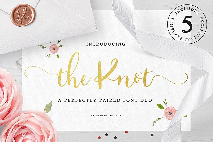 The Knot font duo