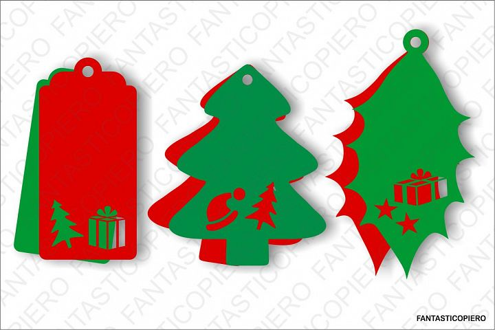 Christmas Label SVG files for Silhouette Cameo and Cricut.