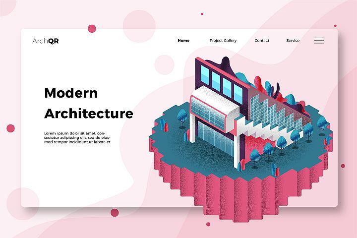 Modern Architecture - Banner & Landing Page
