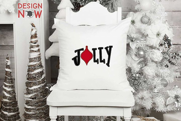 Jolly Christmas Bulb Applique Design, Christmas Embroidery