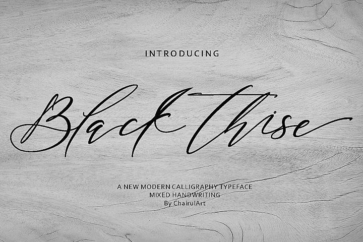 Black Thise Script