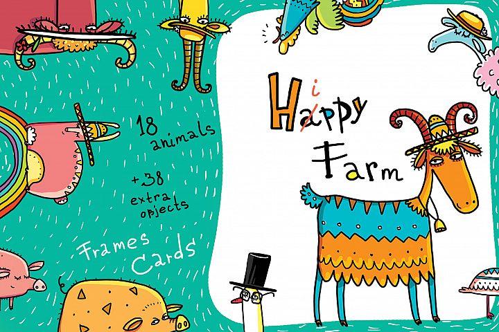 Happy Farm - Animals and Flowers