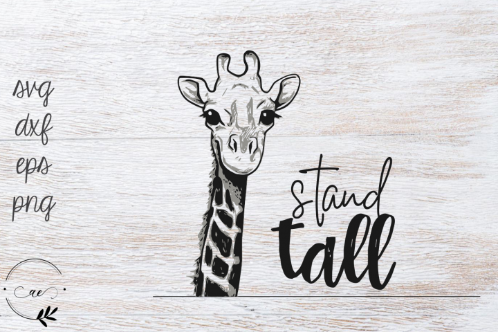 Stand Tall Giraffe Inspirational Quote