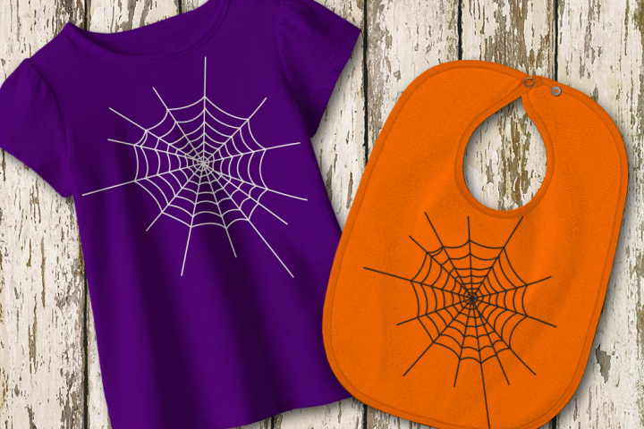 Halloween Spider Web SVG File Cutting Template